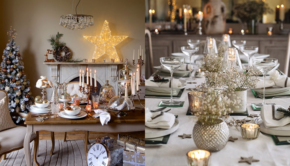Inspiring contemporary christmas decorating concepts for Christmas table dressing