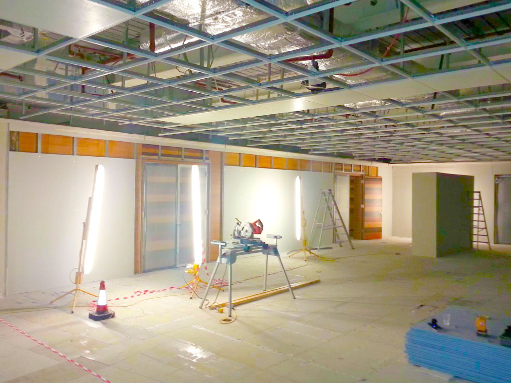 An office fit out under construction