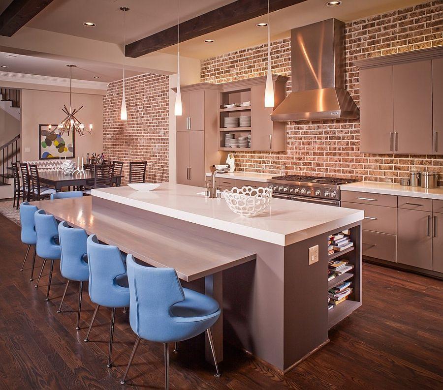 Exposed Brick Kitchen. Image credit: Decosit