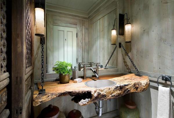 Rugged Metal Bathroom. Image credit: Annette Garza