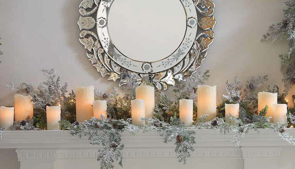Christmas Fireplace Candles