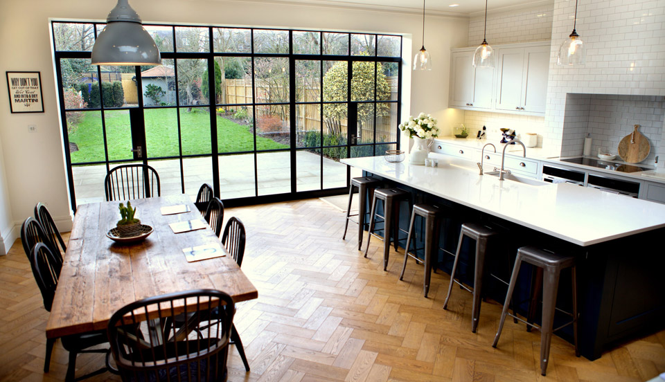 Steel Crittall Doors. Image credit Pinterest & Choosing the right style patio doors for your home
