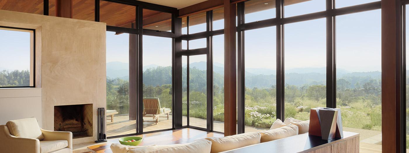Tall Glass Doors