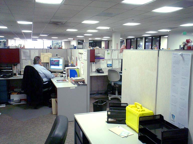Old Fashioned Cubicle Office Layout